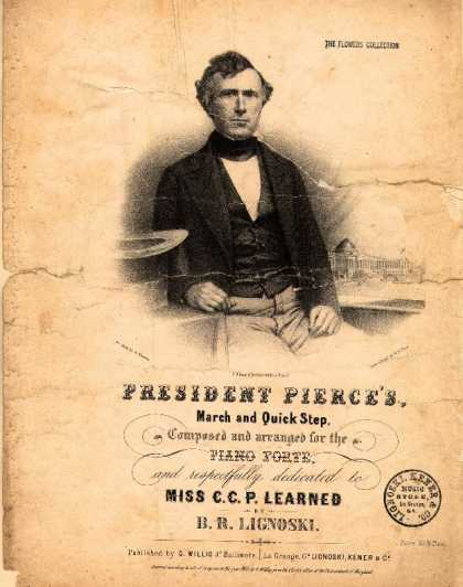Sheet Music - President Pierce's march and quick step