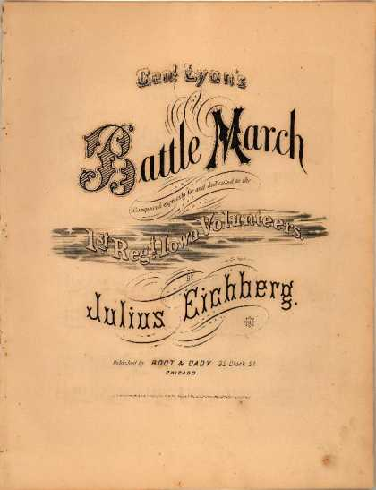 Sheet Music - Genl. Lyon's battle march; General Lyon's battle march