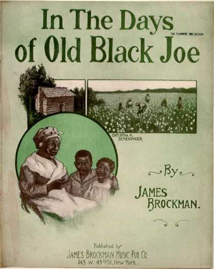 Sheet Music - In the days of old black Joe