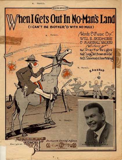 Sheet Music - When I gets out in no man's land; I can't be bother'd with no mule