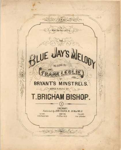 Sheet Music - Blue jay's melody