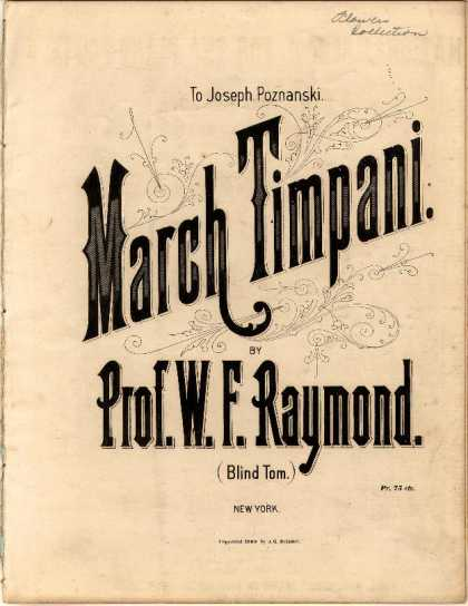 Sheet Music - March timpani