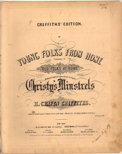 Sheet Music - Young folks from home; Companion to Old folks at home