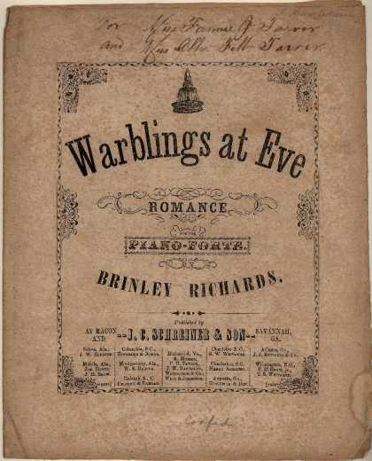 Sheet Music - Warblings at Eve; Romance