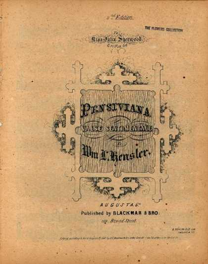 Sheet Music - Pensiviana; Valse sentimentale