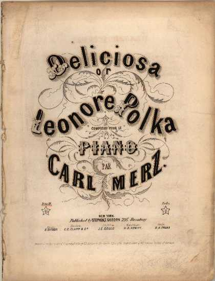 Sheet Music - Deliciosa, or Leonore polka