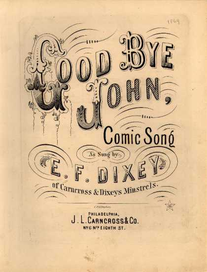 Sheet Music - Good bye John