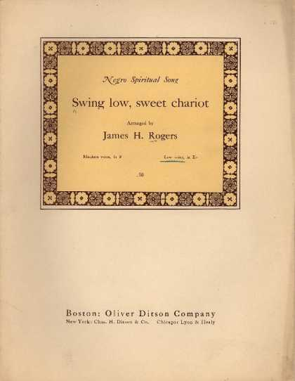 Sheet Music - Swing low, sweet chariot