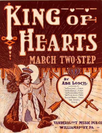 Sheet Music - King of hearts march and two step