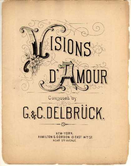Sheet Music - Visions d'amour