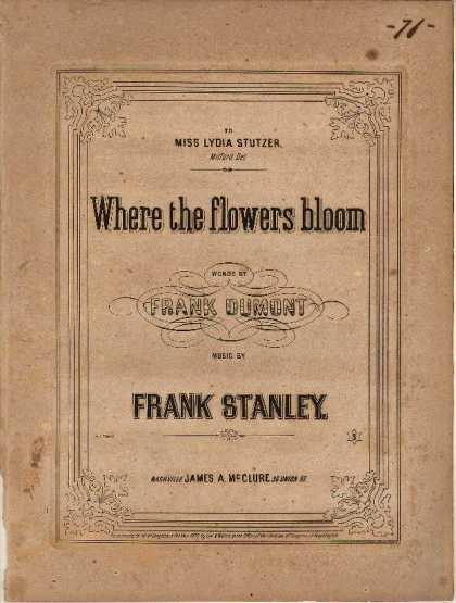 Sheet Music - Where the flowers bloom