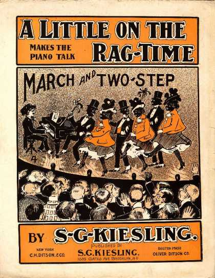Sheet Music - Little on the rag-time; Cake walk; March and two-step