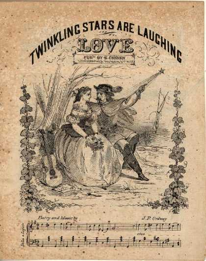 Sheet Music - Twinkling stars are laughing love
