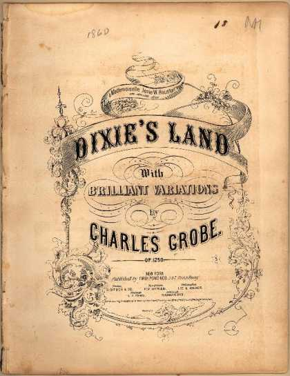 Sheet Music - Dixie's land with brilliant variations; Op. 1250