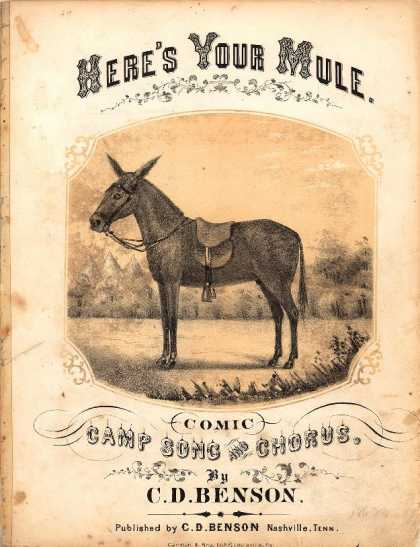 Sheet Music - Here's your mule; Comic camp song and chorus