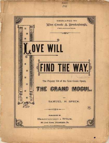 Sheet Music - Love will find the way; Grand mogul