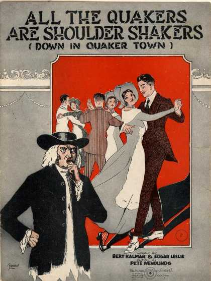 Sheet Music - All the Quakers are shoulder shakers (Down in Quaker town)