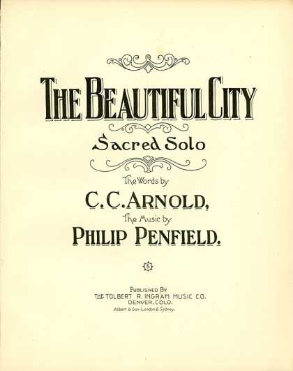 Sheet Music - The beautiful city