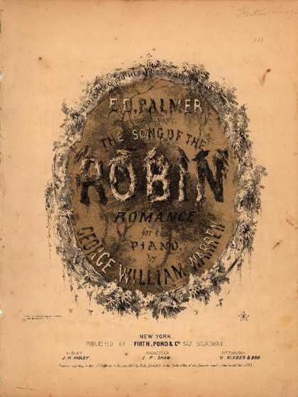 Sheet Music - Song of the robin; Romance