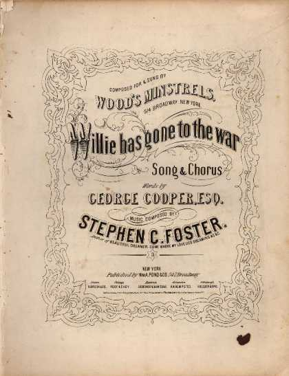 Sheet Music - Willie has gone to the war