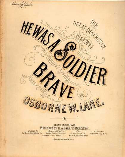 Sheet Music - He was a soldier brave