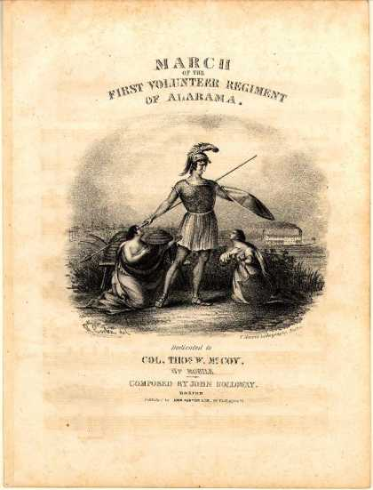 Sheet Music - March of the First Volunteer Regiment of Alabama