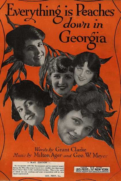 Sheet Music - Everything is peaches down in Georgia