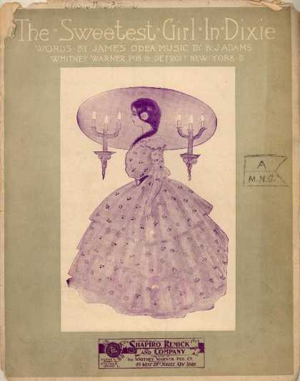 Sheet Music - Sweetest girl in Dixie