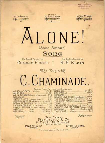 Sheet Music - Alone!; Sans amour
