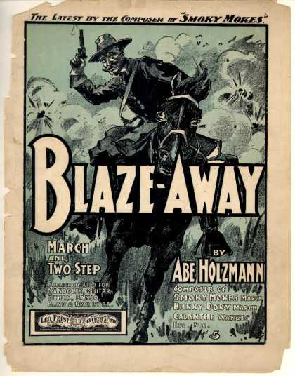 Sheet Music - Blaze away march and two-step