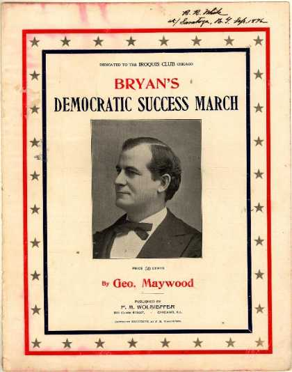 Sheet Music - Bryan's Democratic success march