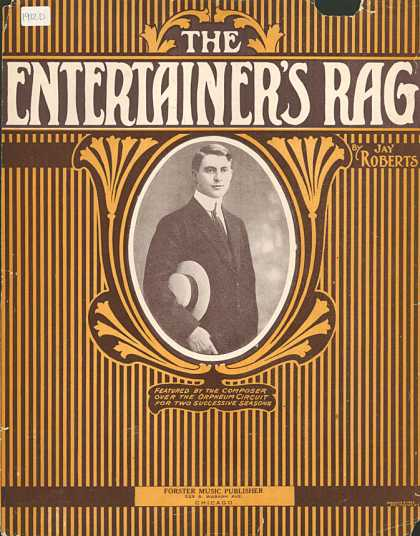 Sheet Music - The entertainer's rag