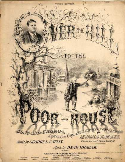 Sheet Music - Over the hill to the poor-house