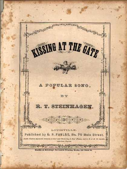 Sheet Music - Kissing at the gate