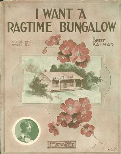 Sheet Music - I want a ragtime bungalow