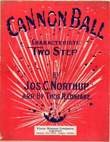 Sheet Music - Cannon ball; Characteristic two-step