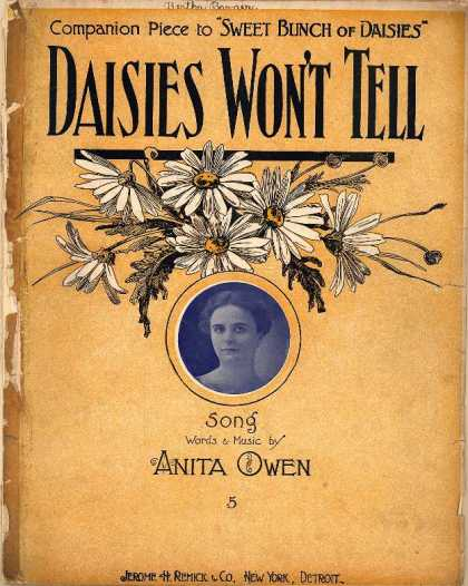Sheet Music - Daisies won't tell; Companion piece to Sweet bunch of daisies