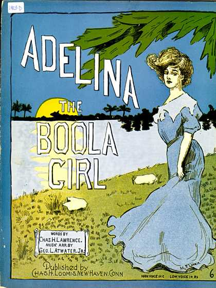 Sheet Music - Adelina, the boola girl