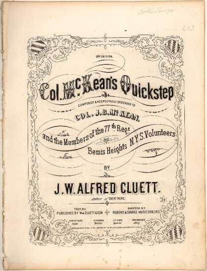 Sheet Music - Col. McKean's quickstep