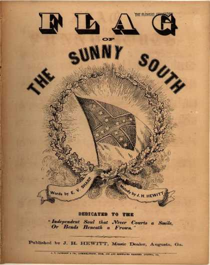 Sheet Music - Flag of the sunny South