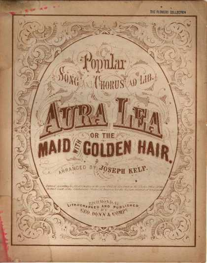 Sheet Music - Aura Lea