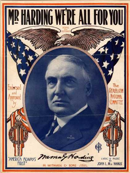 Sheet Music - Mr. Harding we're all for you