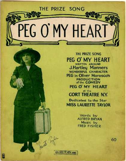 Sheet Music - Peg o' my heart