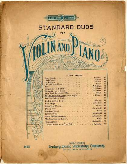 Sheet Music - My old Kentucky home, good night
