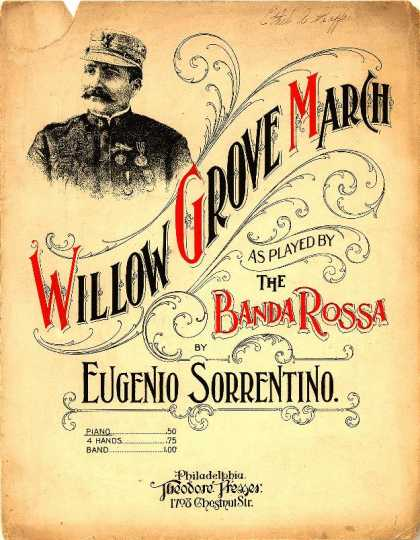 Sheet Music - Willow grove march