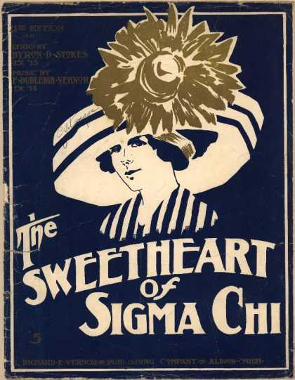 Sheet Music - The sweetheart of Sigma Chi