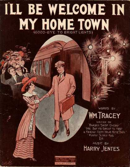 Sheet Music - I'll be welcome in my home town; Good-bye to bright lights