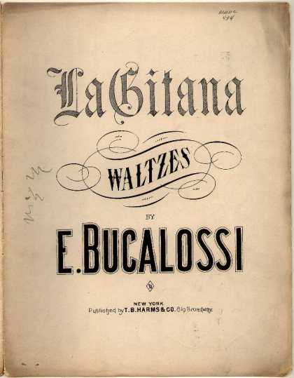 Sheet Music - La Gitana waltzes