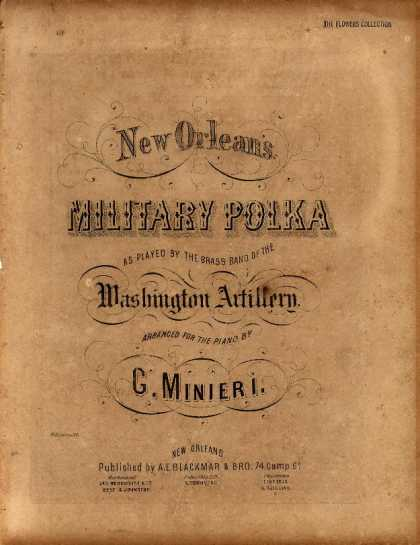 Sheet Music - New Orlean's military polka