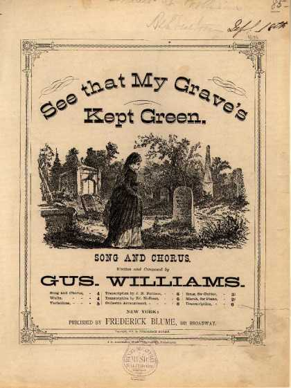 Sheet Music - See that my grave's kept green